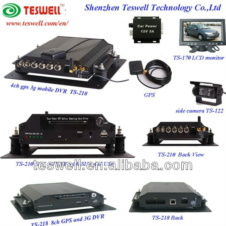 Surveillance cctv dvr for car/bus/police car/school bus