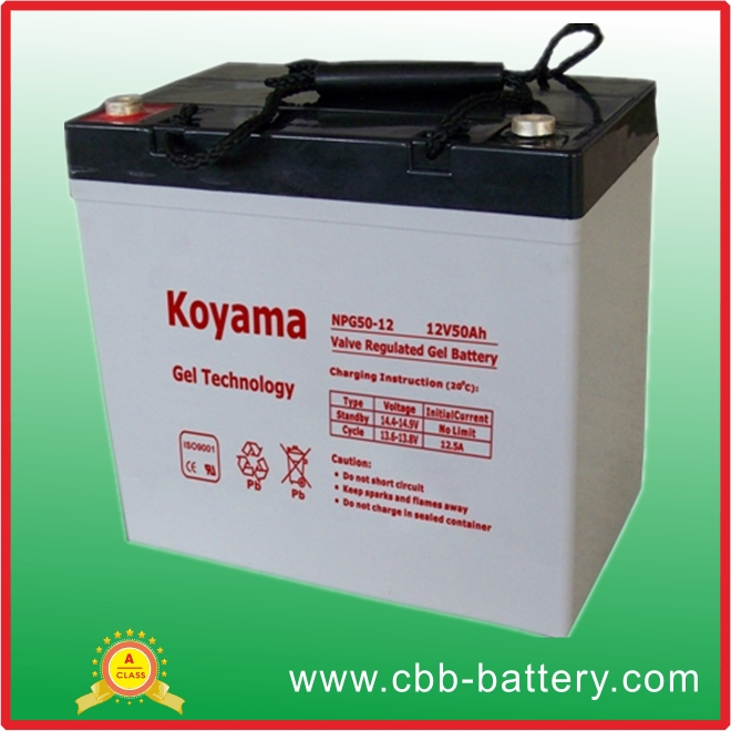 12V 50Ah Electric Scooter Gel Battery