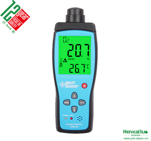 Portable O2 Air Detector AR8100 Alarm Oxygen concentration Measuring Instrument Meter