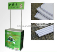 supermarket foldable plastic promotion counter with printing