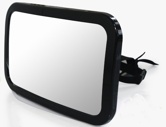 car back seat baby mirror - Rear View Baby Car Seat Mirror - Wide Convex Shatterproof Glass and Fully Assembled