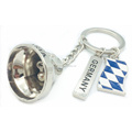 Promotion Key Rings Germany Gift Custom City Souvenirs Metal Small 3D Bell Charm Keychain