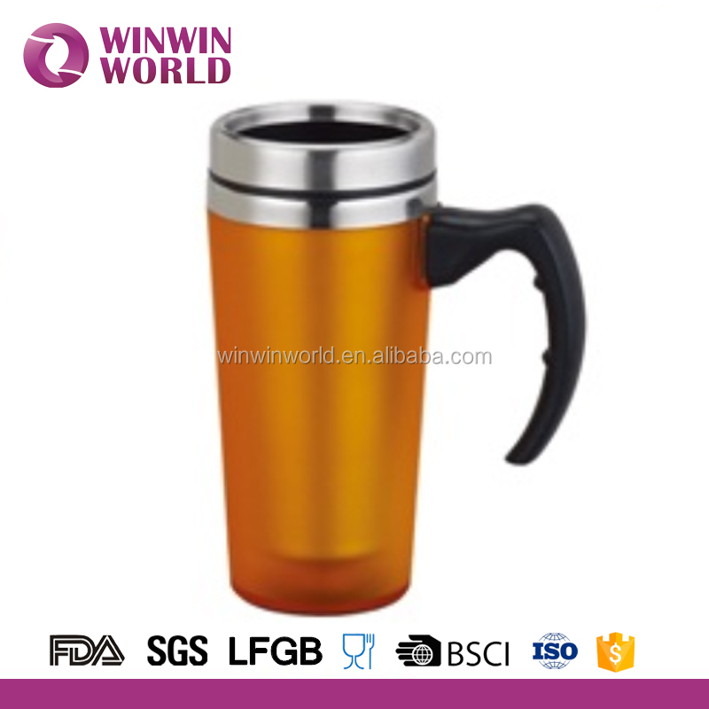 Promotion Drinkware Handle Stainless Steel Thermo Coffee Mug 350ml