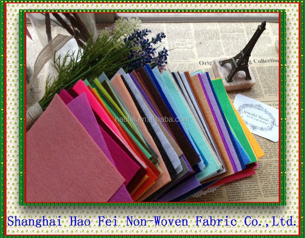 Color Polyester felt 1mm
