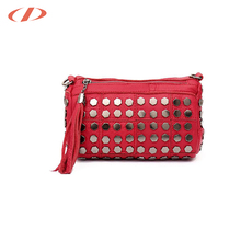 Leather cosmetic bag make up case travel cosmetic jewelry kits pouch cosmetic bags with rhinestones