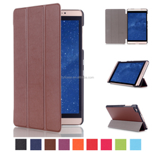 Custom Leather smart Cover Flip Tablet Case For HuaWei M2-801W