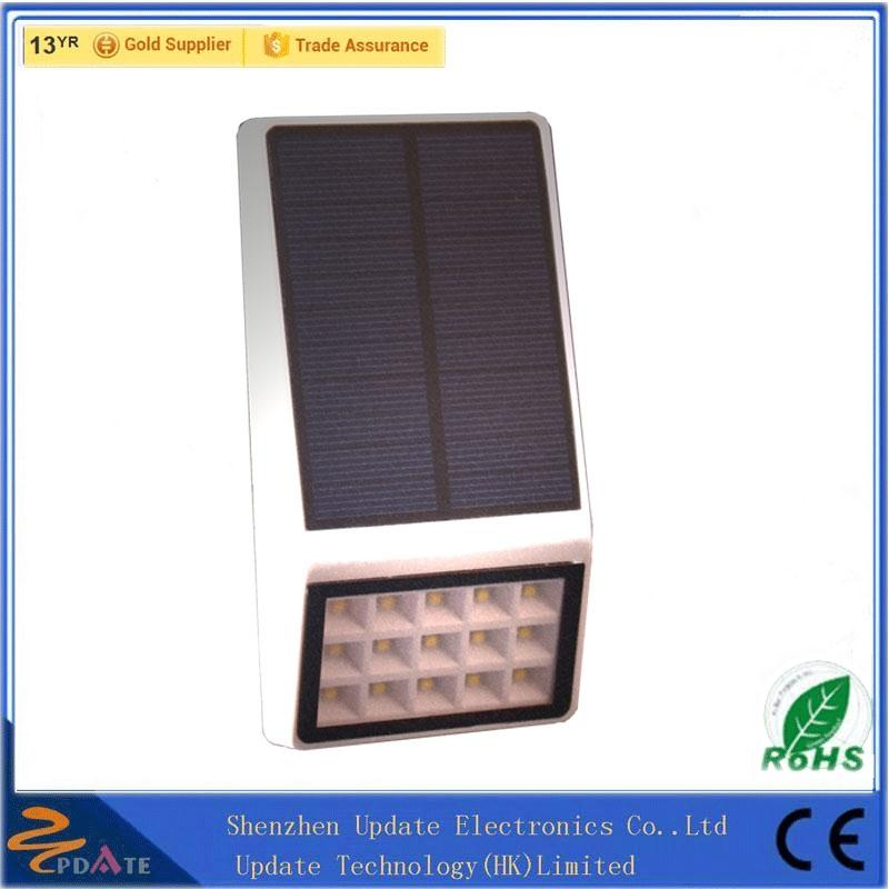 Rechargeable Wall Sconce 15 LED IP 65 PIR Lighting Solar Powered Outdoor Lights For Home Garden