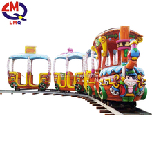 Christmas Kiddie amusement rides track train Outdoor Games Mini Track Train