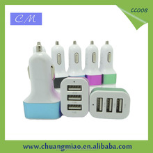 New 5V 7.2A fast charging 3 USB Car Charger for iPad CC008