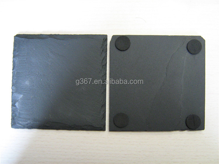 best price black slate net paste grey tumbled slate tile