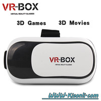 VR Glasses Fiit vr 3D Glasses Virtual Reality fit up to 6 inch big lens HD movies 3D movies vr glasses for mobile phone