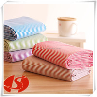Comfortable cotton clothing or bedding can do stripes of fabric
