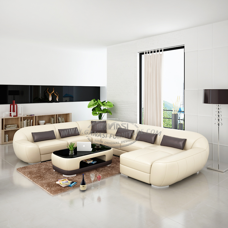 Italian leather furniture ,modern white leather sectional, View modern  Italian leather sectional, GANASI Product Details from Foshan Ganasi  Furniture ...
