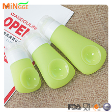 2017 silicone squeezable Liquid Make up Containers Refillable Travel Bottles with Carabine