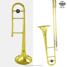 Popular bB tone Gold Lacquer Tenor Trombone with brass bell