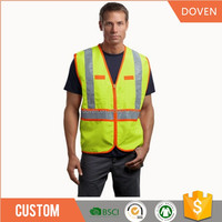 Mens Reflective Safety Clothing Jacket Vest