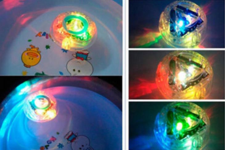 Party in the bathtub colorful light bath toy for children