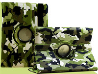 New Trending Camouflage 360 Rotating Holder Stand Flip Smart PU Case Cover For iPad Pro 12.9inch