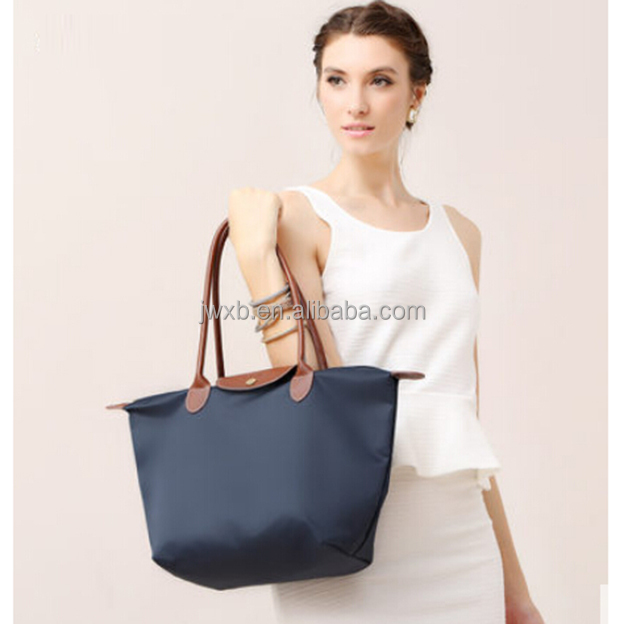 wholesale cheap nylon foldable shopping bag with logo