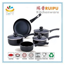 Practical Best quality new design item colorful 12pcs ceramic nonstick coating utensil cooking pots pans set
