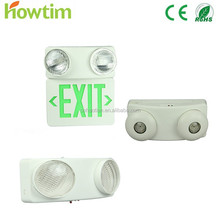CE, UL, ROHS high quality CE Wall mounted IP65 battery operated Red/ Green rechargeable led emergency light lighting lamp with