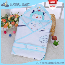 cartoon style baby hooded towel/100%cotton ruffle swaddle blanket