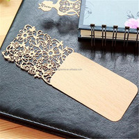 best price of custom logo korean style wooden bookmark with good quality