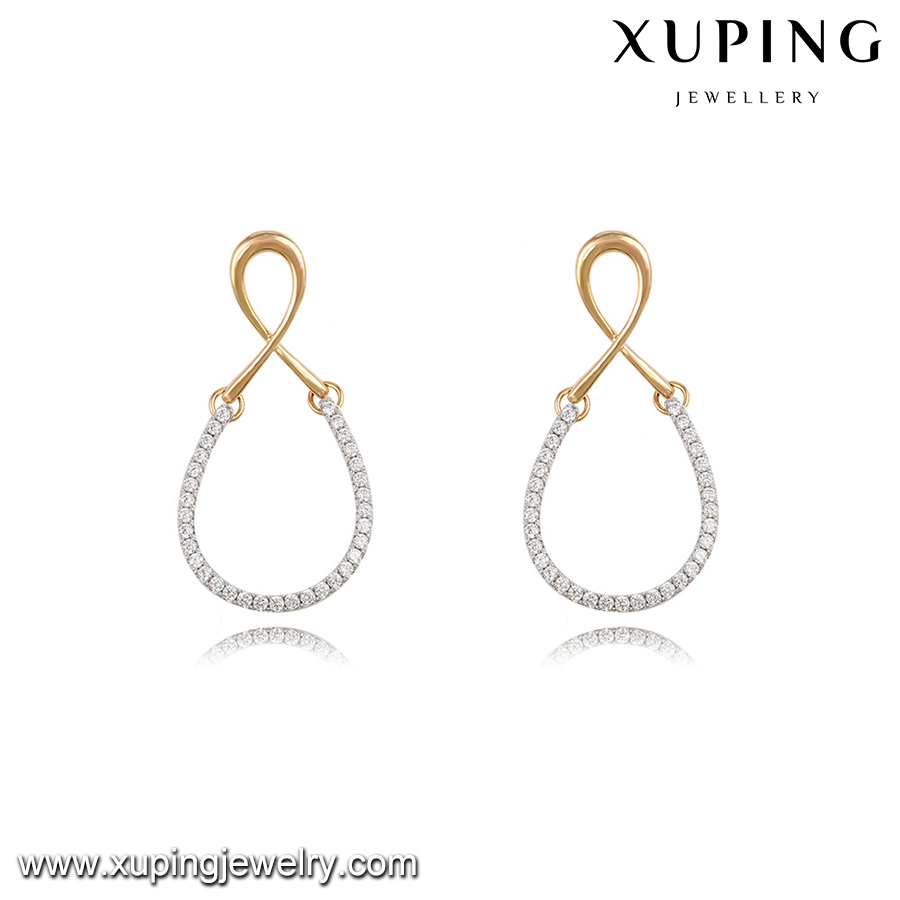 92215-fashion jewelry and accessories white gold earrings new model 2013