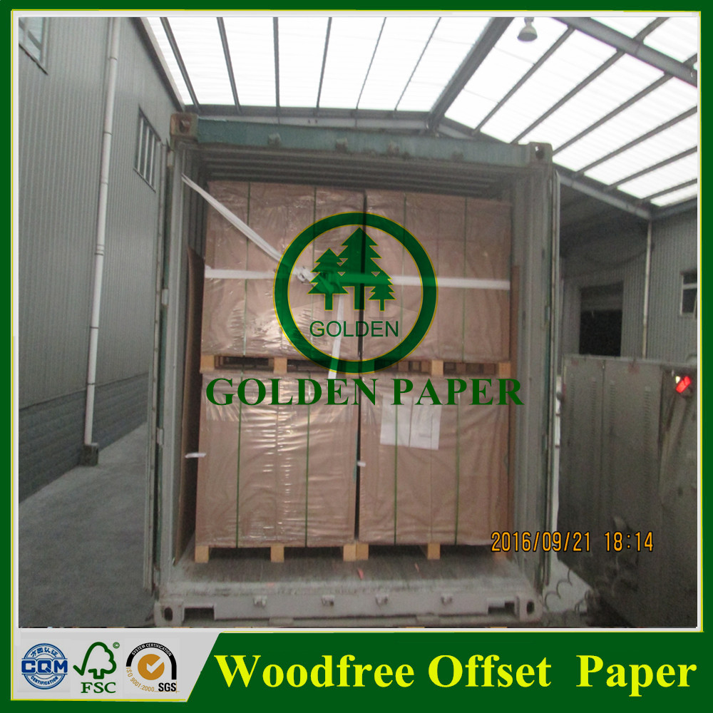 60g 80g white woodfree offset paper roll