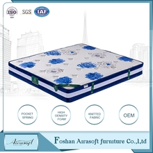 True comfort bed king roll up compressed foam mattress made in china