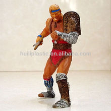 custom plastic gladiators figure toy;personalized plastic gladiators toy figure