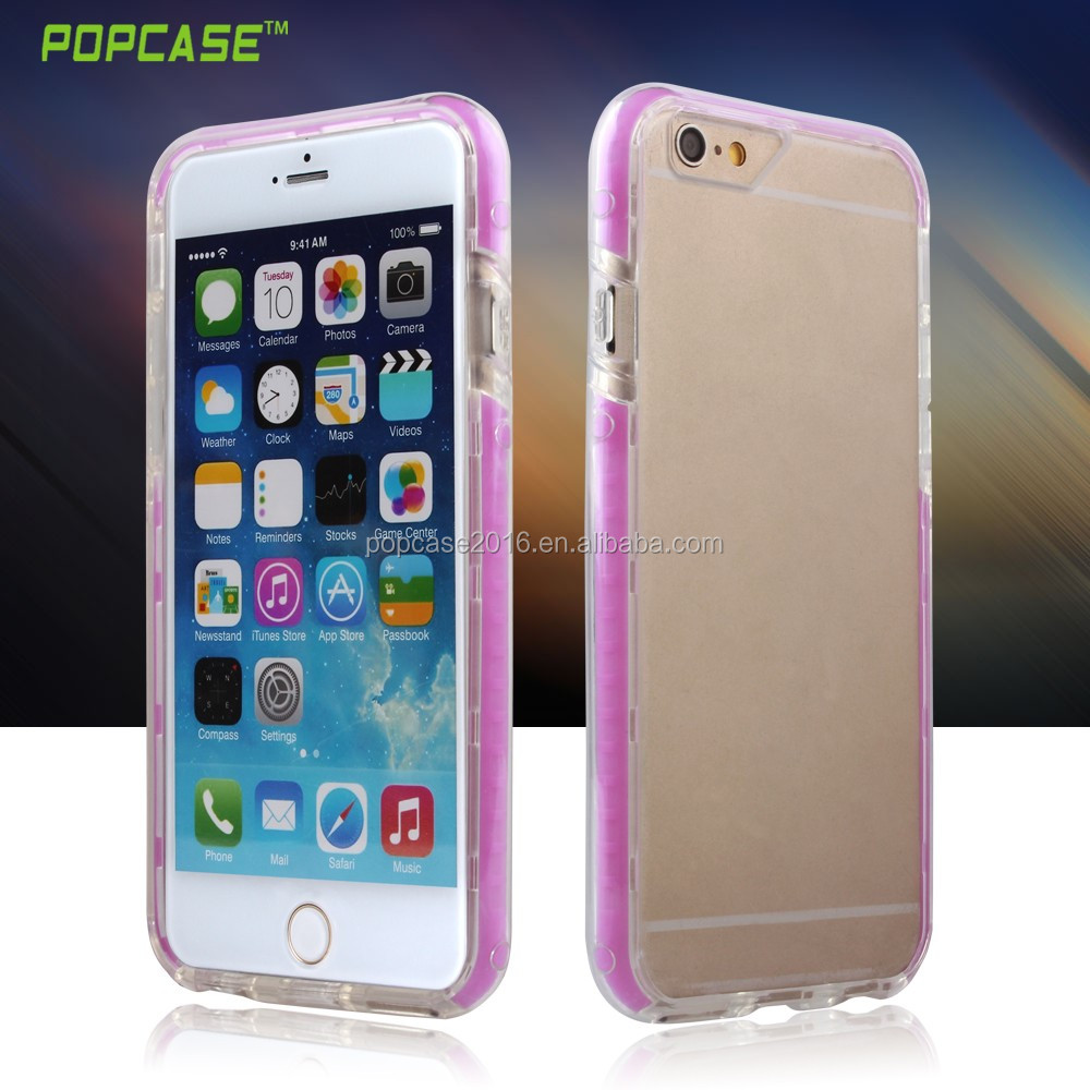 Hot sale new design clear bumper cellphone case for iphone6 plus