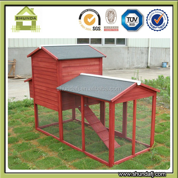 SDC012 Red Large Outdoor Waterproof Wooden Chicken Coop Hen House with metal Tray