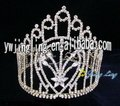 latest full round rhinestone jingling crystal pageant crowns