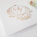 Deluxe Monogram Die Cut Wedding Invitations