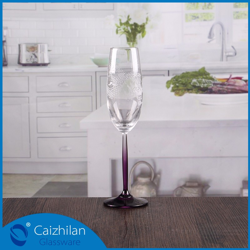 Heart shaped stem champagne glass