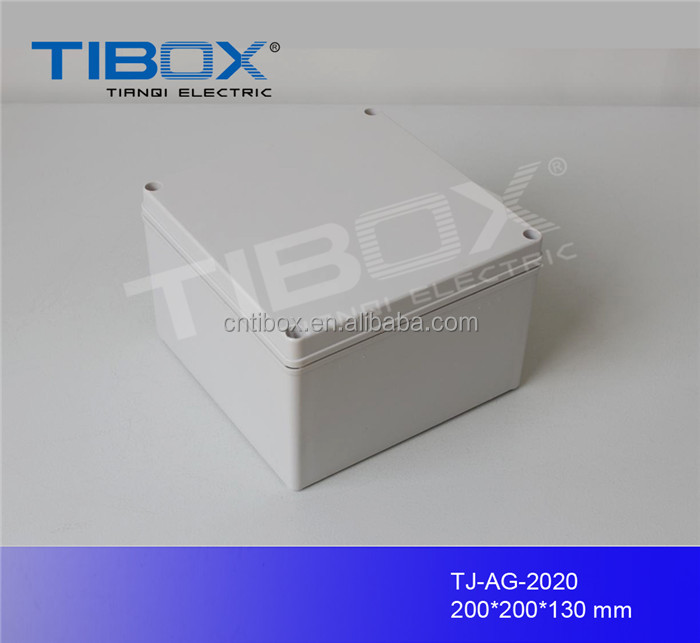 round electrical junction box plastic box with knock out and rubber for electrical industry, TIBOX
