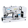 Button attaching sewing machine for carpet overedging sewing machine