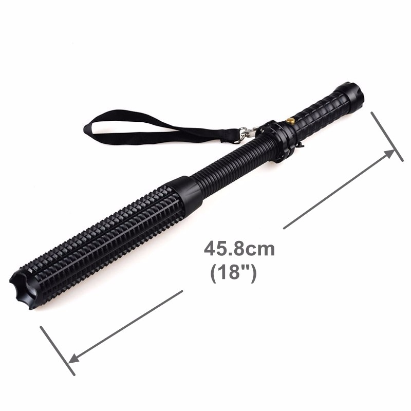 telescopic bat t6 led zoom tactical security rechargeable