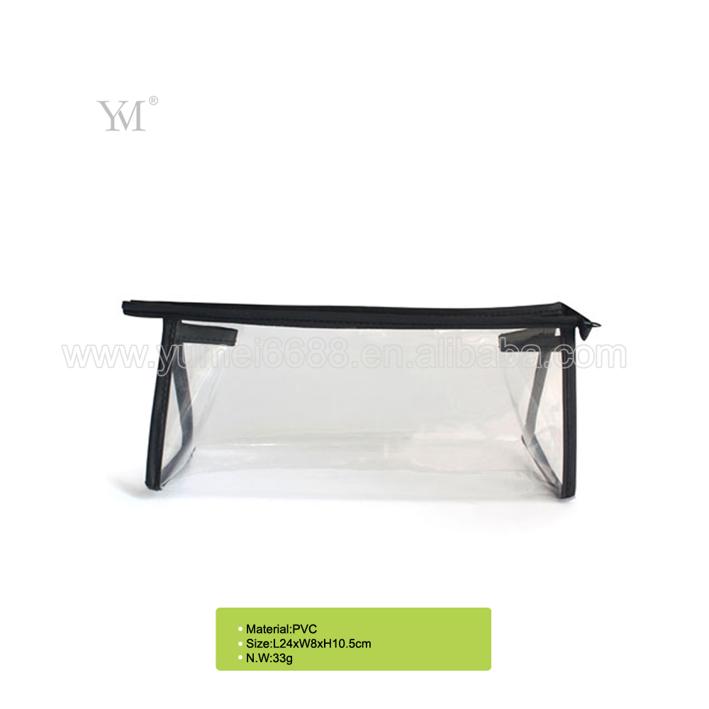 2017 new design promotional custom printing clear plastic pvc cosmetic make up bag women bags