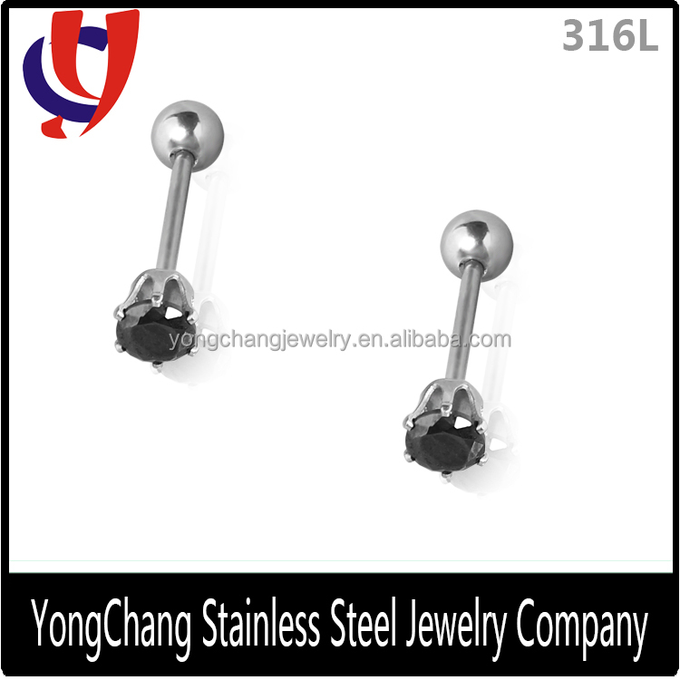 Tongue ring zircon body piercing jewelry fine designed wholesale by industry