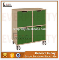 New manufacturing wood kids cabinet storage for preschool