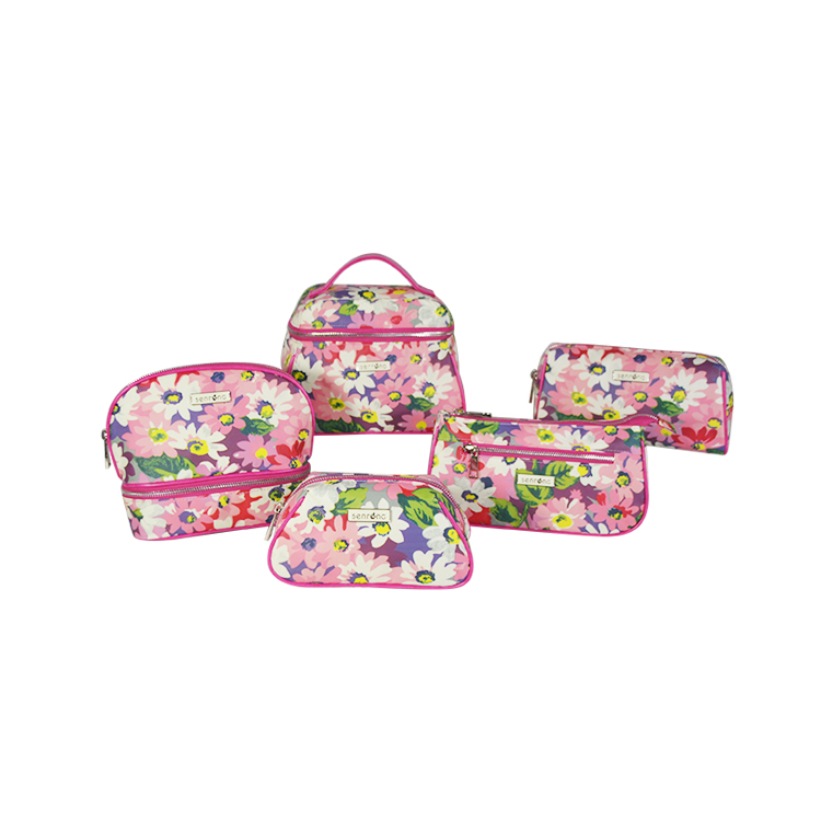 The Best Design fashion beautiful wholesale canvas toiletry bag,makeup bag,PU cosmetic bag