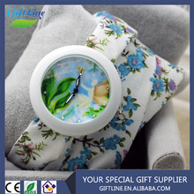 Fashion Women Brand New Ladies Floral Fabric Band Strap Casual Summer Watch