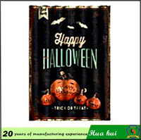 Christian supplies, Happy halloween metal sign , wholesale vintage metal signs c86