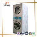 Coin-operated industrial washing machine and dryer for laundry