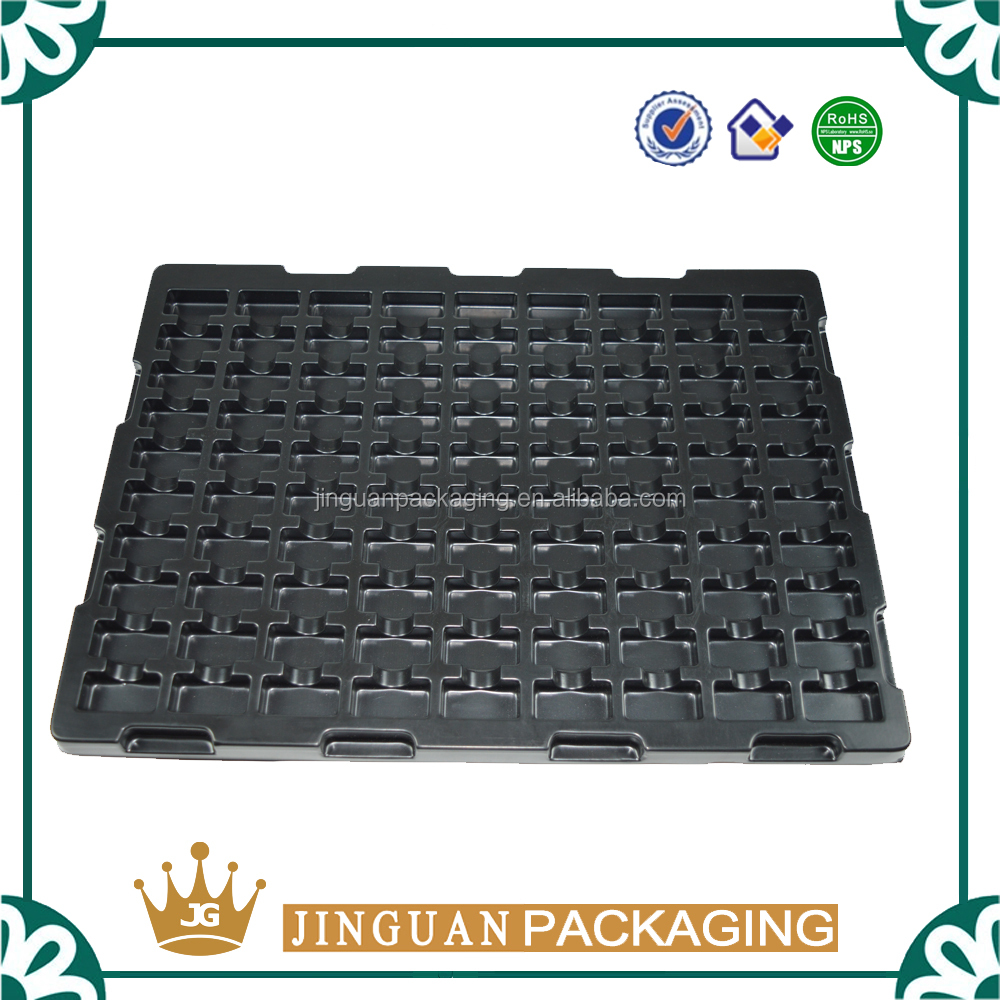 Customized ESD Electronic Component Black Blister Tray