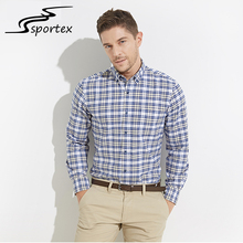 New Arrival Long Sleeve Formal Dress Shirts Fashion 100% Cotton Plaid Flannel Shirt Men