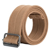 Custom newest knitted fabric canvas men belts