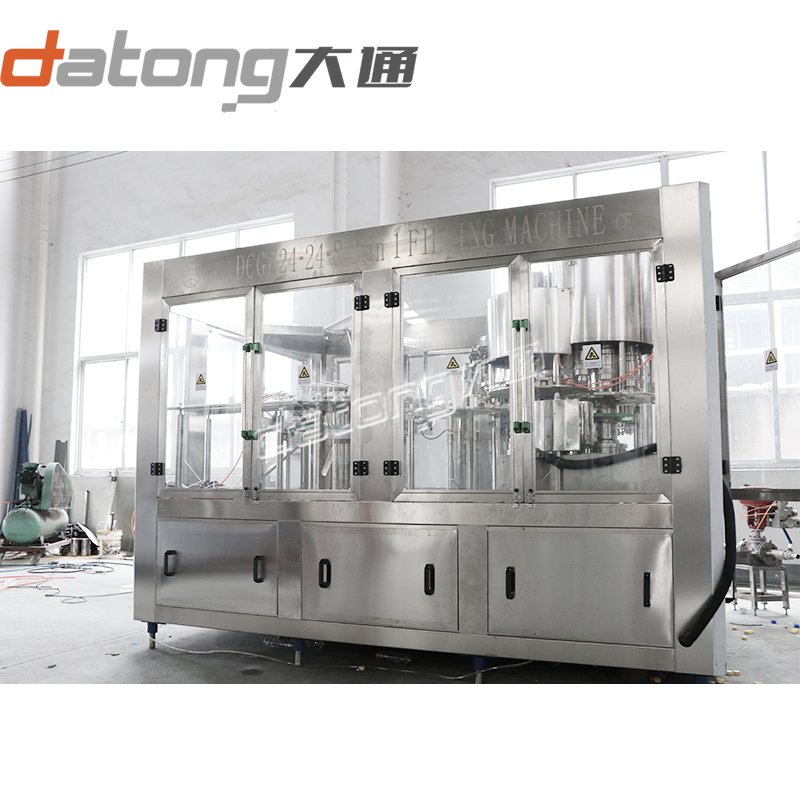 Automatic Carbonated Beverage Bottle Washing Filling Capping Machine